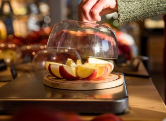 Apfelstücke zum Probieren