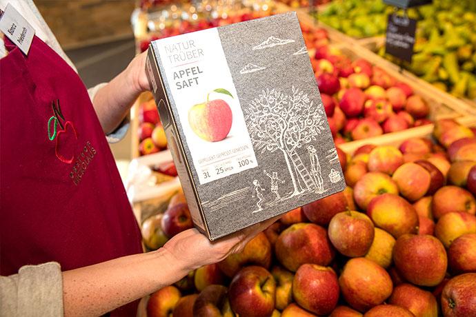 Produkte vom Obsthof Nickolaus im Einzelhandel